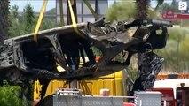 Así quedó el coche tras el accidente de José Antonio Reyes