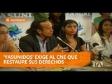 Primer plantón de Yasunidos para exigir que restauren sus derechos - Teleamazonas