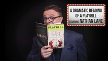 Nathan Lane: A Dramatic Reading Of A Playbill