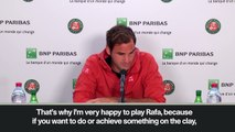 (Subtitled) Federer 'happy' to face Nadal in French Open semi-final