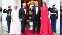 Right Now:  Donald and Melania Trump host a dinner at Winfield House for Prince Charles