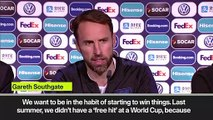 (Subtitled) 'We want to start to win things' Southgate ahead of England's Nations League semi vs Netherlands