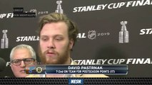 David Pastrnak, Charlie McAvoy Discuss Making Most Of Stanley Cup Final