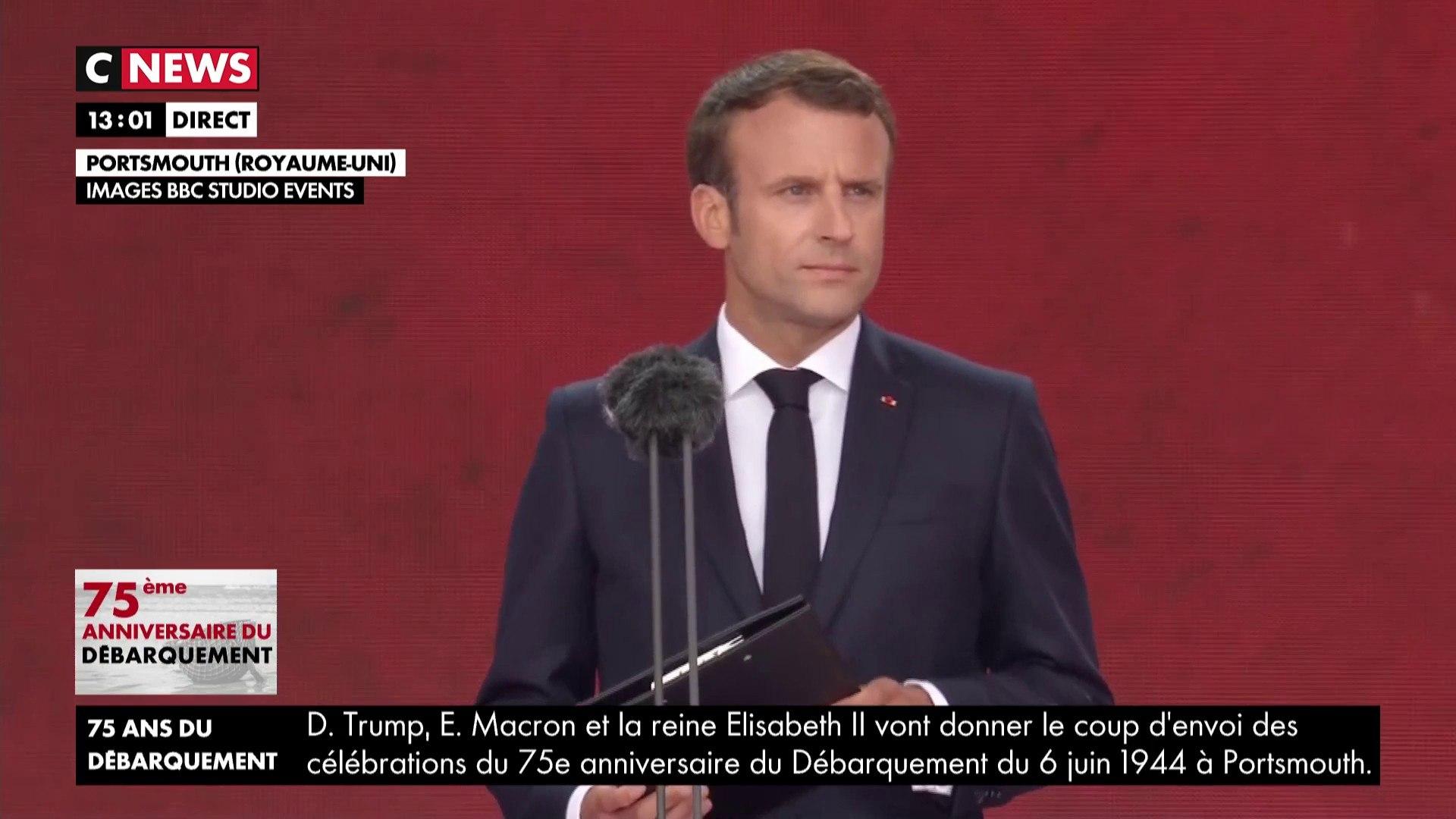 75ème anniversaire du débarquement : Emmanuel Macron lit la lettre d'adieu d'un résistant fusillé