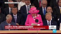 Queen Elizabeth II thanks all soldiers who took part in the D-Day landings in Normandy 75 years ago.