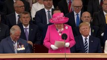 The Queen pays tribute to D-Day veterans