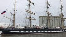 L'arrivée du voilier russe Kruzenhstern