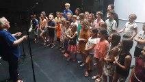 Le chanteur pour enfants Jean-Michel Rey enregistre son prochain album à la Nef