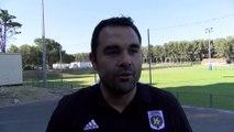 Laurent Thomas président du FC Istres avant la finale Istres - Salon