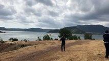 Des canadairs en démonstration au lac du Salagou