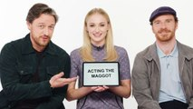 Sophie Turner, James McAvoy and Michael Fassbender Teach You English, Scottish and Irish Slang