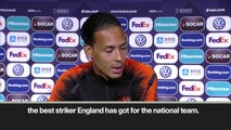 (Subtitled) van Dijk labels Kane 'one of the best strikers' ahead of Nations League semi-final