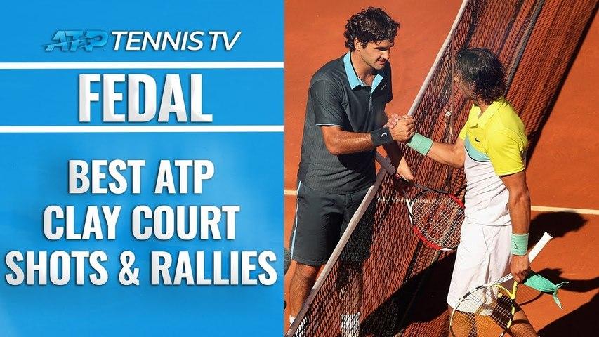 Roger Federer vs Rafael Nadal: Best ATP Clay Court Shots - Rallies-