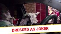 Dressed as Joker