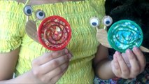 Snail Craft (Step By Step Video) / Disposable Cup Lid Snail - Arts & Crafts For Kids