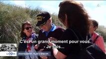 En larmes, des vétérans américains reviennent pour la première fois sur la plage d'Utah Beach - Regardez