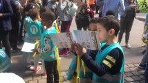 Parc Josaphat, Schaerbeek - Remise d'un brevet cycliste aux élèves schaerbeekois (vidéo Germani)