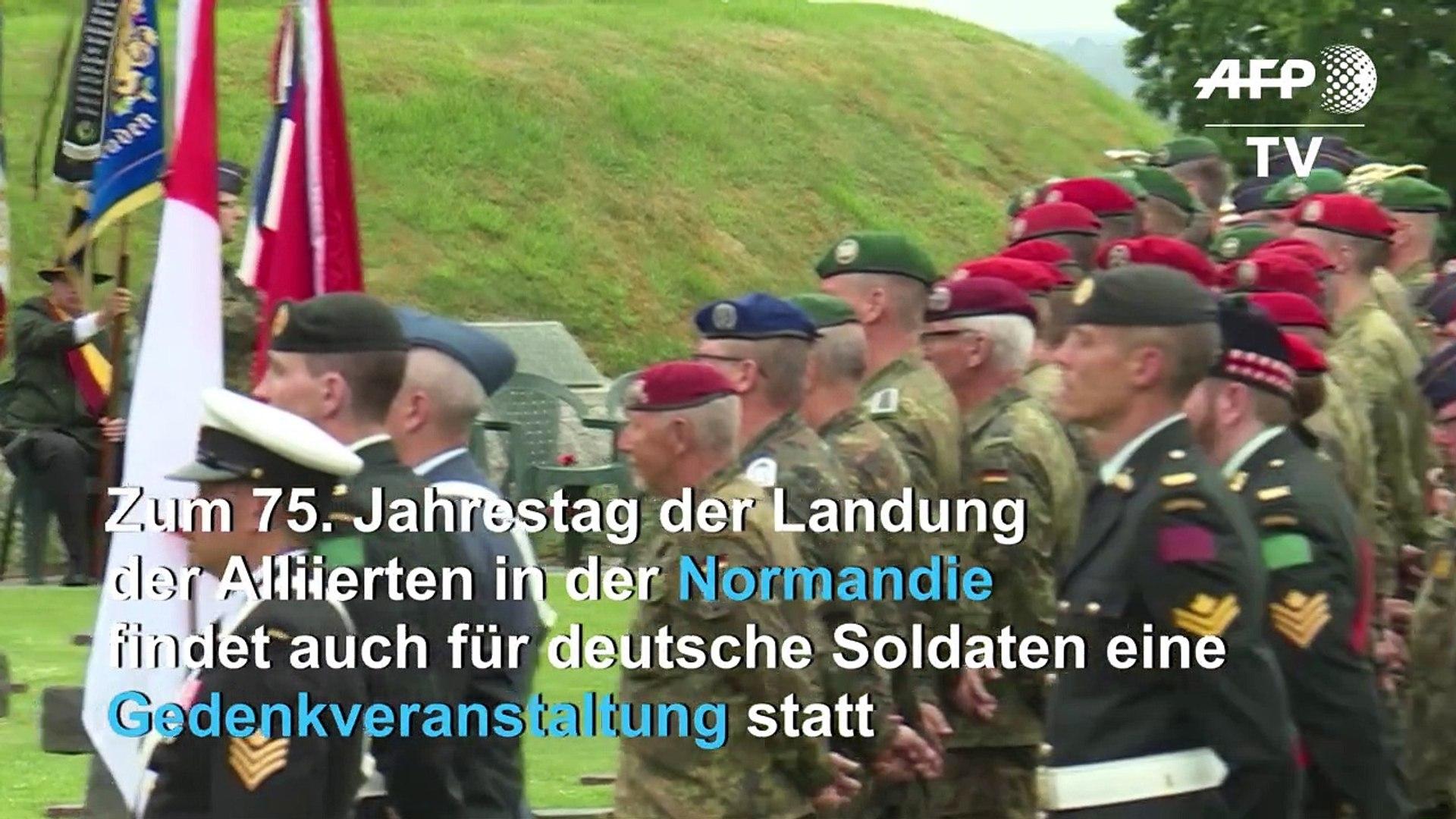 Jahrestag.Gedenkfeier Fur Deutsche Soldaten Zum 75 Jahrestag Des D Days In Der Normandie