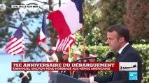 """Commémoration du débarquement: """"Aujourd'hui, la France n'oublie pas tous ces combattants à qui elle doit de vivre libre"""" (Emmanuel Macron)"""