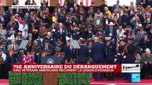 Emmanuel Macron remet la légion d'honneur à cinq vétérans américains
