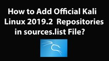 How to Add Official Kali Linux 2019.2 Repositories in sources.list File?