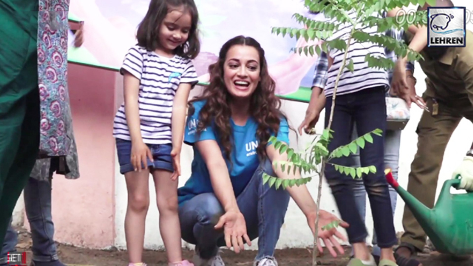 Dia Mirza Plants Saplings To Support 'Beat Air Pollution' Campaign