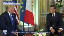 """Emmanuel Macron à Donald Trump:  """"Les valeurs que nous portons nous dépassent."""""""