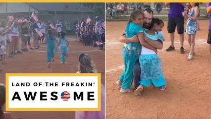 Emotional Military Reunion At Daughters Final Season Softball Game