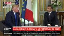"""A Caen, Donald Trump assure que sa relation avec la France est """"excellente"""""""