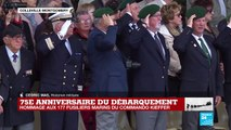 La Marseillaise résonne lors de l'hommage au commando Kieffer