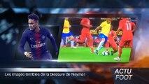 Les images terribles de la blessure de Neymar