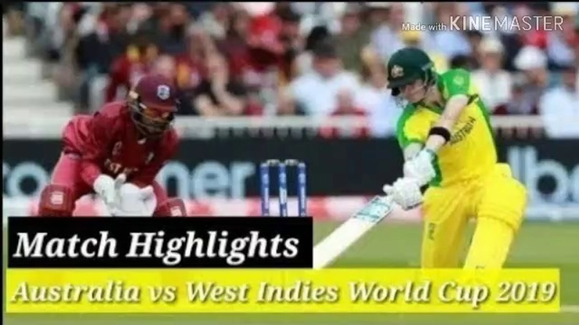 Australia Vs West Indies World Cup 2019 Full Match Highlights Live Cricket 19