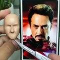 Cet artiste sculpte le visage d'Iron Man comme si c'était un jeu d'enfant