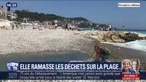 À Nice, elle lutte contre la pollution en ramassant les déchets plastiques sur la plage