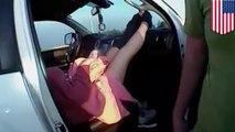 高速道路で出産!奇跡的瞬間をとらえた警官のボディカメラ - トモニュース