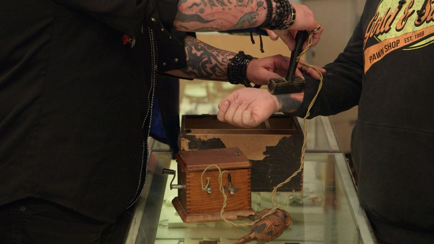Pawn Stars: Chumlee Tests Out a Secret Society Branding Machine