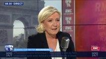 """Marine Le Pen regrette """"que la Russie n'ait pas été conviée"""" aux cérémonies du 75e anniversaire du débarquement"""