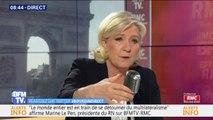 """""""On est en pleine psychose climatique."""" Marine Le Pen justifie le score des Verts aux européennes"""
