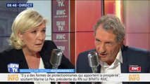 """""""Ce n'est pas un repoussoir."""" Marine Le Pen explique pourquoi sa nièce a réduit son patronyme à Marion Maréchal"""
