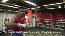 "Manny Pacquiao prepares against ""arrogant"" Keith Thurman"