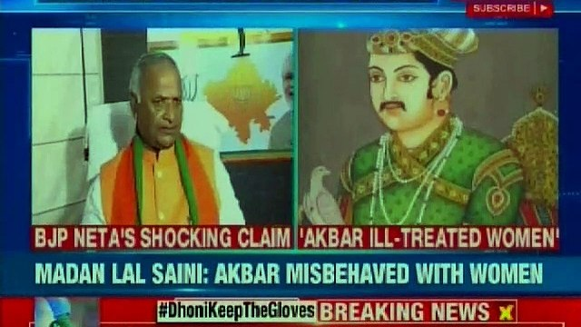 BJP Rajasthan chief Madan Lal Saini stokes controversy after Mughal emperor Akbar remark