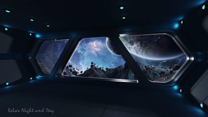 Spaceship WHITE NOISE   24 HOURS - 4K, White Noise for Deep Sleep, Relaxing, Offices and SPA