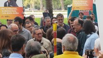 ERC, JxCat y la CUP acuden a apoyar a Jové antes de su declaración en el TSJC