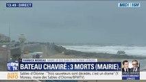 """Un bateau de la SNSM chavire : """"Avec une mer comme celle-ci, on ne sort pas"""", selon le maire des Sables-d'Olonne"""