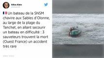 Vendée. En pleine tempête Miguel, un bateau de la SNSM chavire aux Sables-d'Olonne : trois morts