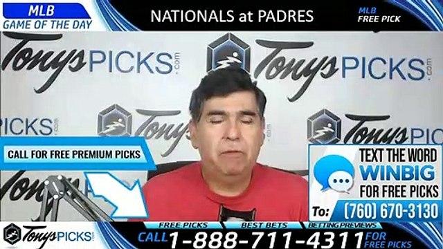 Washington Nationals vs San Diego Padres 6/7/2019 Picks Predictions Previews