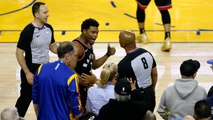 Warriors Part-Owner Mark Stevens Banned for One Year After Shoving Kyle Lowry
