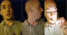 Jovem tuga mostra o perigo de andar sozinho à noite