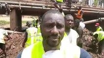 Amara Bathily - Rassemblement des Jeunes pour Enlever des Ordures sous un Pont