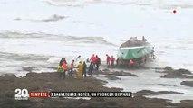 Sables-d'Olonne: Forte émotion après la mort de 3 sauveteurs sortie en pleine tempête pour porter assistance à un bateau de pêche dont le marin est toujours porté disparu